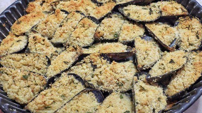 cozze gratinate al forno